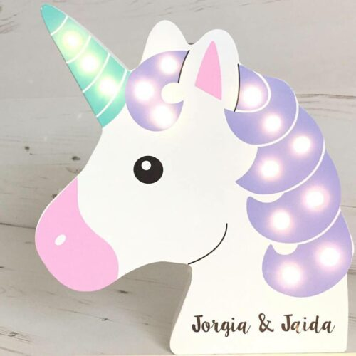 unicorn personalised LED light