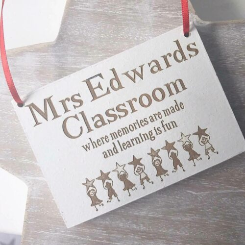Teacher's Classroom - Hanging Plaque