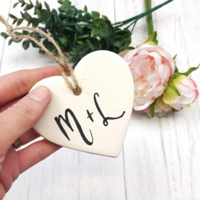 Personalised Couples Ceramic Heart