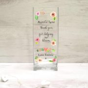 Personalised Printed Vase - Flower Design