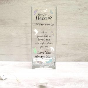 Personalised Printed Remembrance Vase - Angel Design