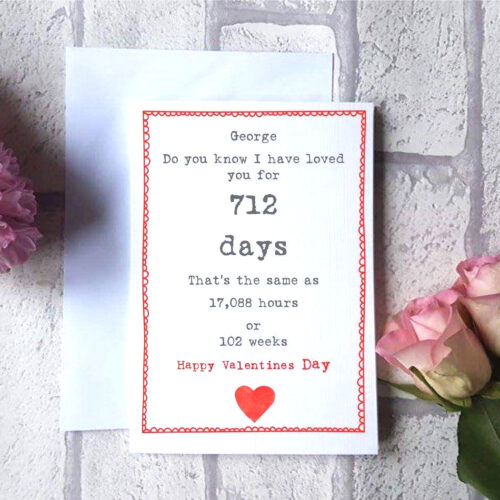 Special Date Valentines Card