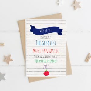Personalised Greatest Teacher Card