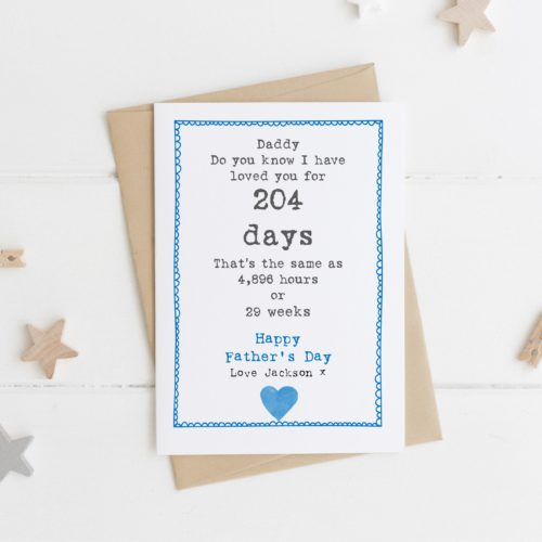 Personalised Special Date Father's Day Card