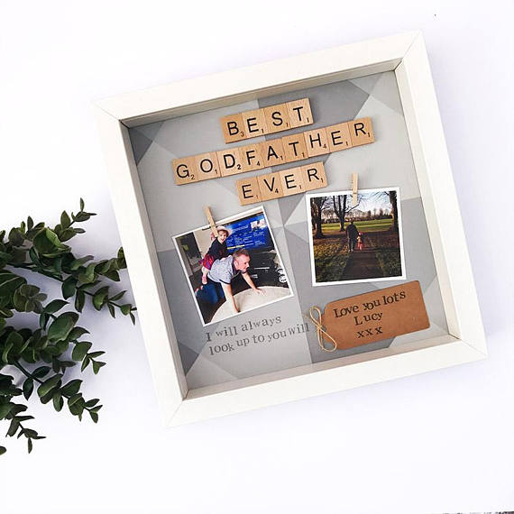 Personalised Godfather Scrabble Frame | Love Unique Personal