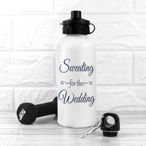 Sweating For The Wedding Personalised Water Bottle