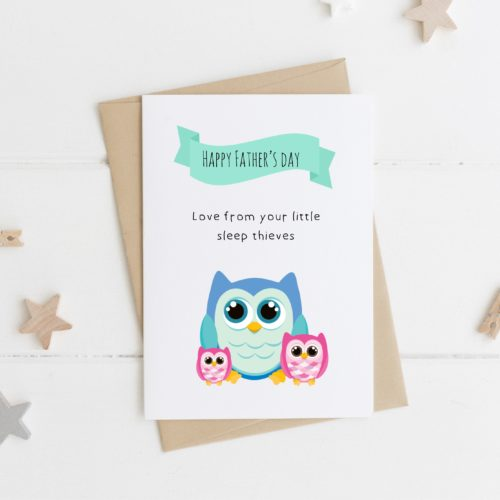 Sleep Thief Personalised Father's Day Card