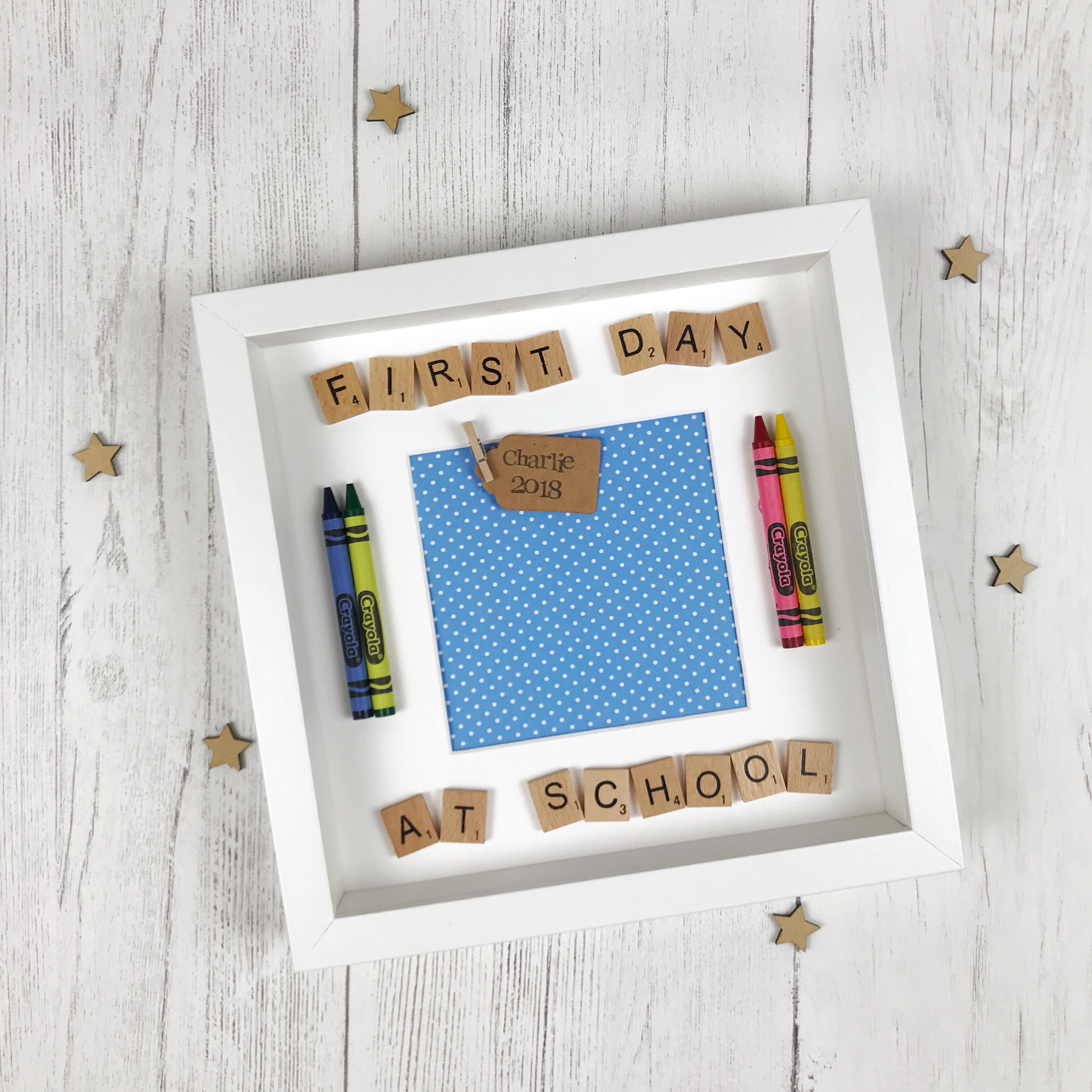 First Day At School Crayon Frame | Love Unique Personal
