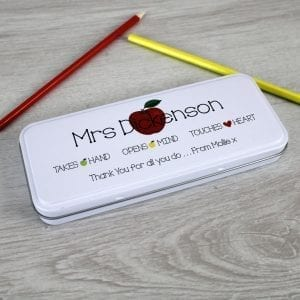 Personalised Teacher Pencil Tin