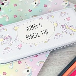 Personalised Unicorn Pencil Tin