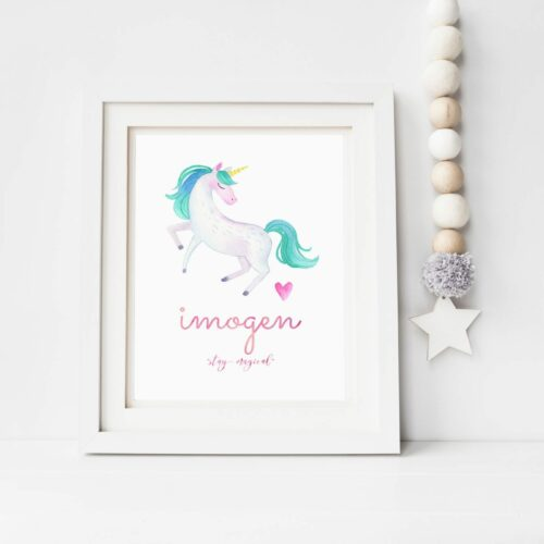unicorn stay magical print