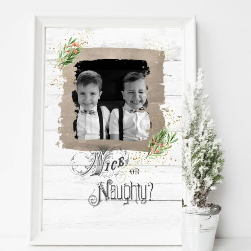 Nice or Naughty Christmas Print
