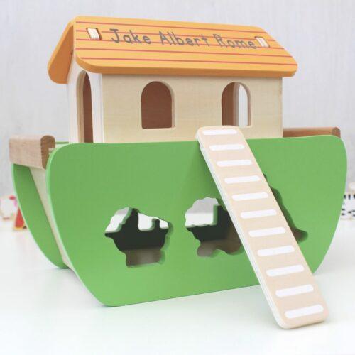 Personalised Noah's Ark Shape Sorting Toy