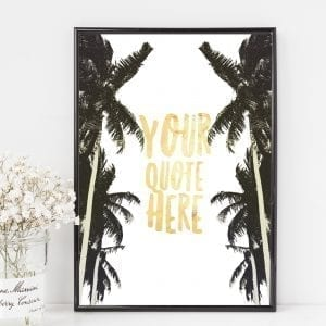 personalised watercolour palm print
