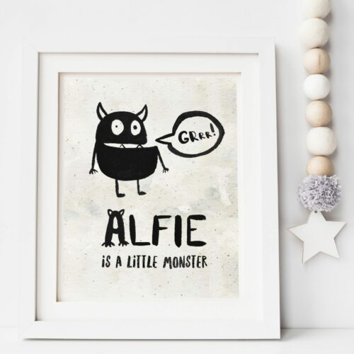 Little Monsters Personalised Print