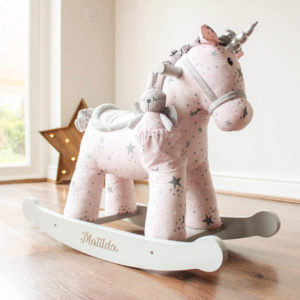 Celeste & Fae Personalised Rocking Unicorn Horse