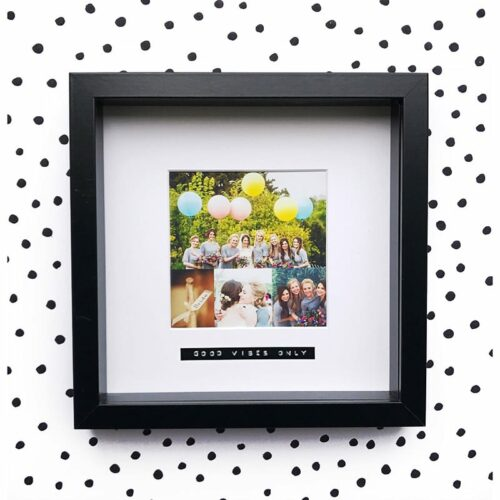 good vibes only personalised photo frame