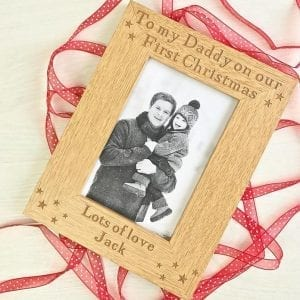 First Christmas Wooden Frame