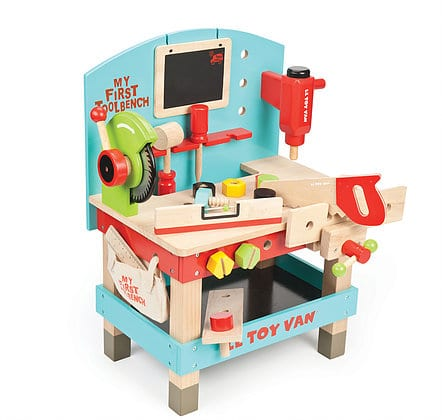 Personalised Wooden Tool Bench Toy