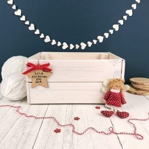 White Personalised Christmas Eve Crate