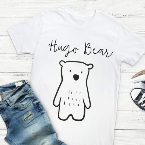 Personalised Monochrome Bear Children's T-Shirt