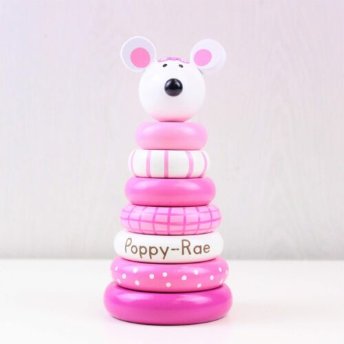 Personalised Pink Mouse Stacking Ring