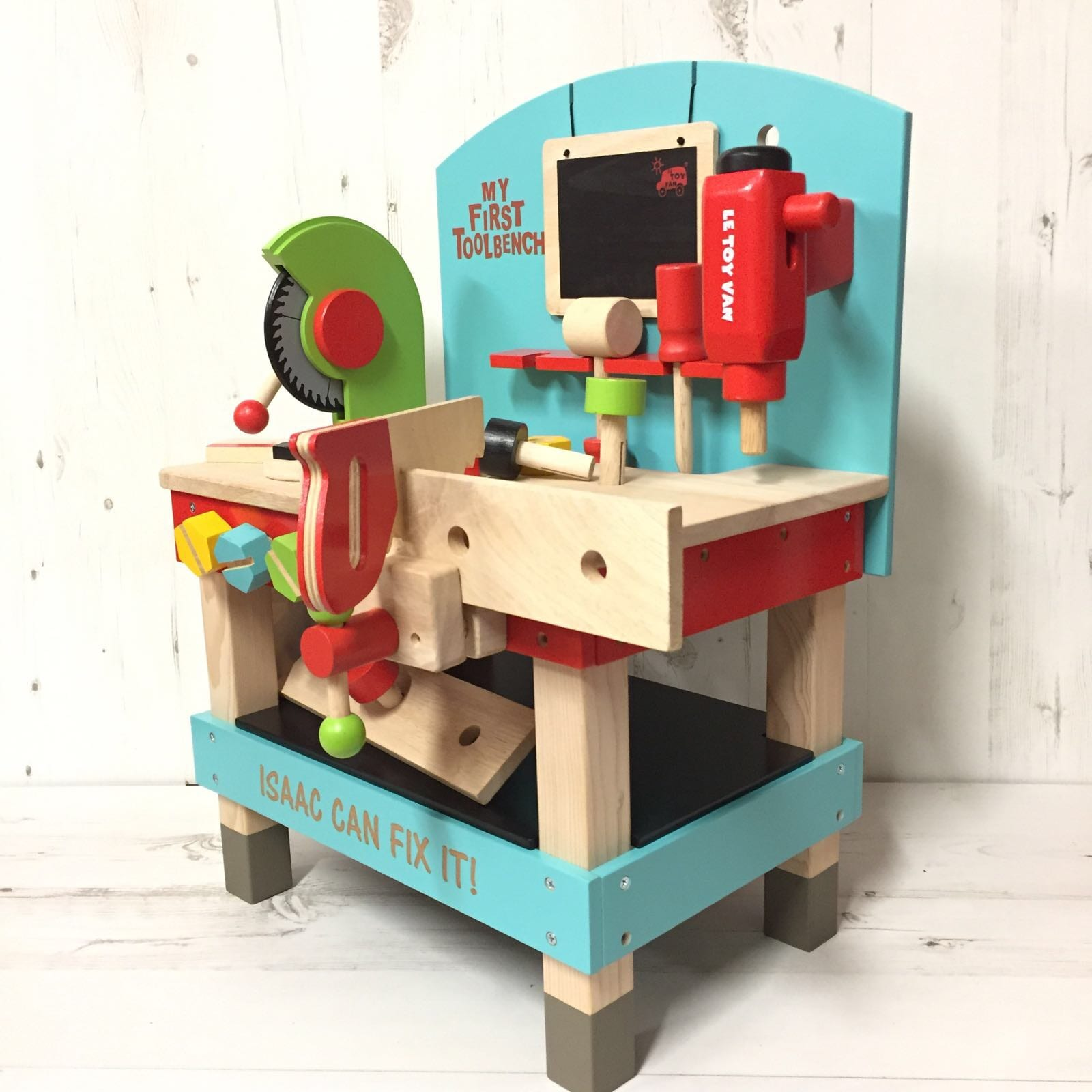 Personalised Wooden Tool Bench Toy Love Unique Personal