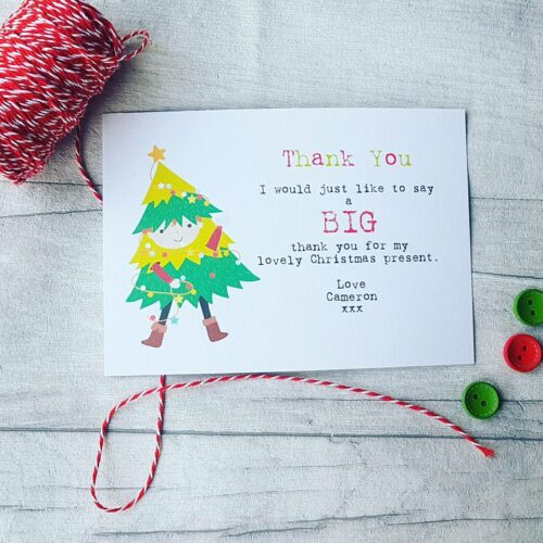 Personalised Thank You Christmas Cards Pack