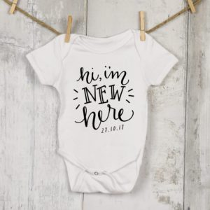 Personalised New Baby Onesie