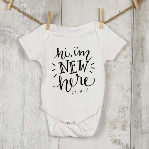 Personalised New Baby Onesie