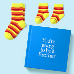 You're Going to be a Brother Gift with Personalised Card and Socks