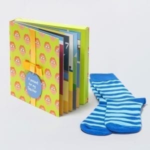 Teacher Male Gift Book with Socks and Personalised Tag