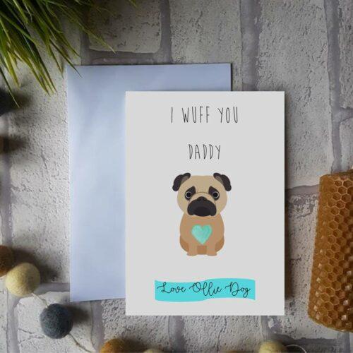 Dog Personalised Valentine's Card