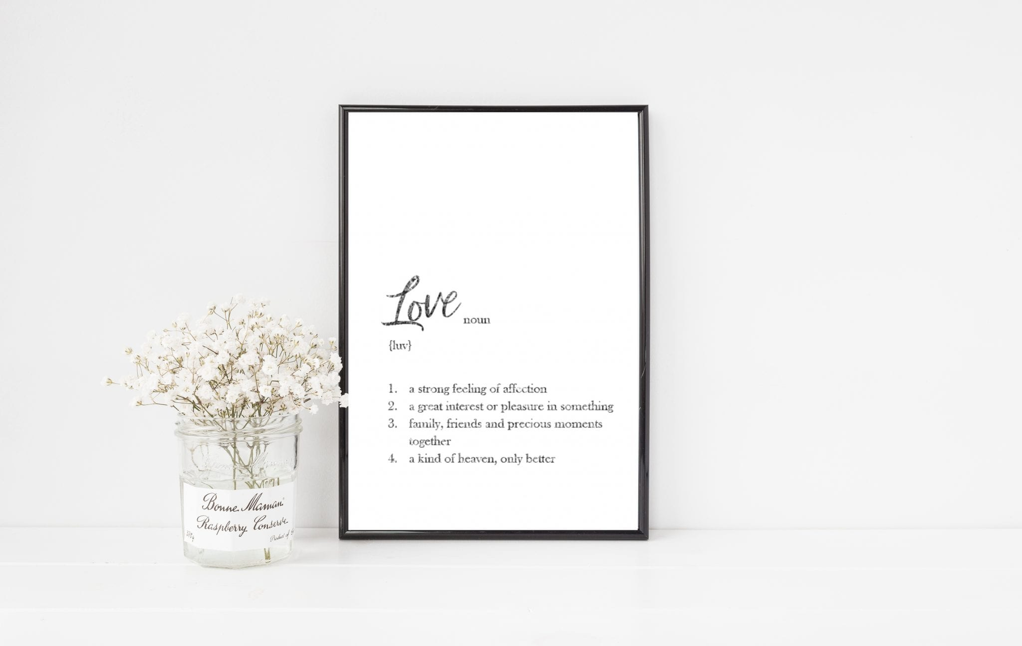 Dictionary Definition Personalised Print Love Unique Personal