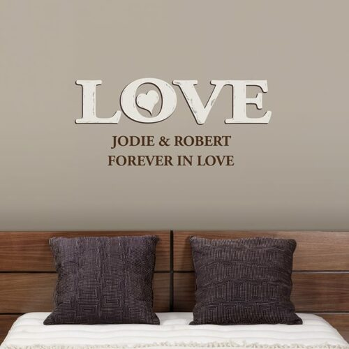 Personalised Love Wall Art