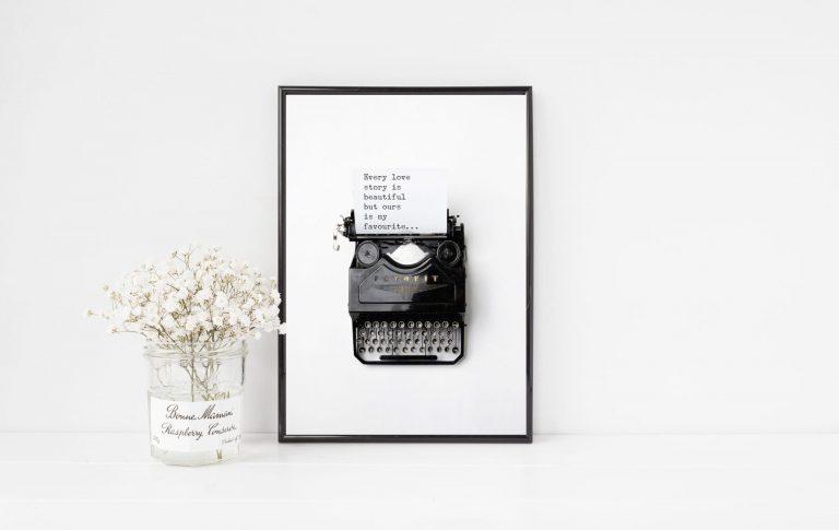 Typewriter Personalised Print