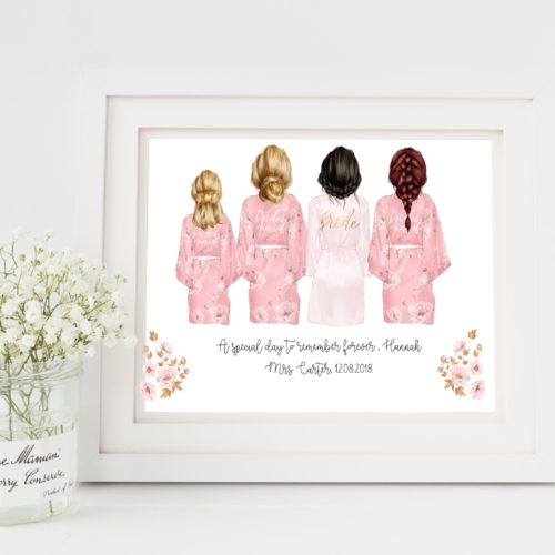 Personalised Bridesmaid Print