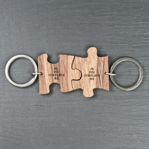 You Complete Me Romantic Jigsaw Keyring