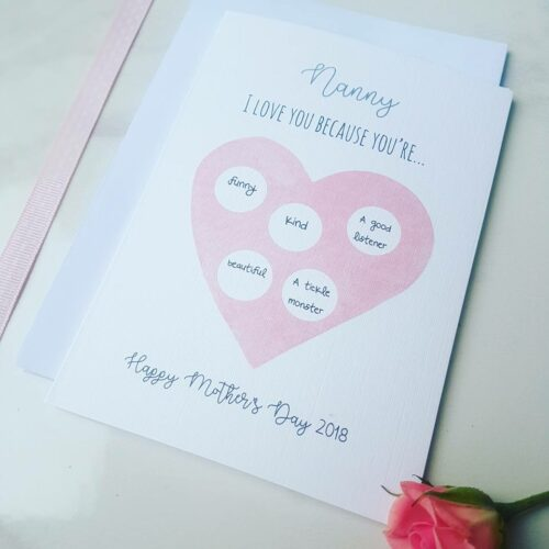 Reveal Mother's Day Card