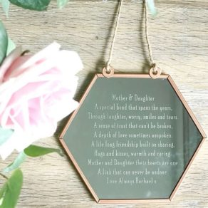 Personalised Mother & Daughter Poem Hanging Mirror