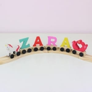 Light Pastel Colours Wooden Letter Train