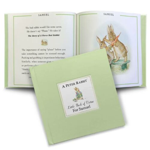 Personalised 'Little Book of Virtue' Peter Rabbit Children's Book