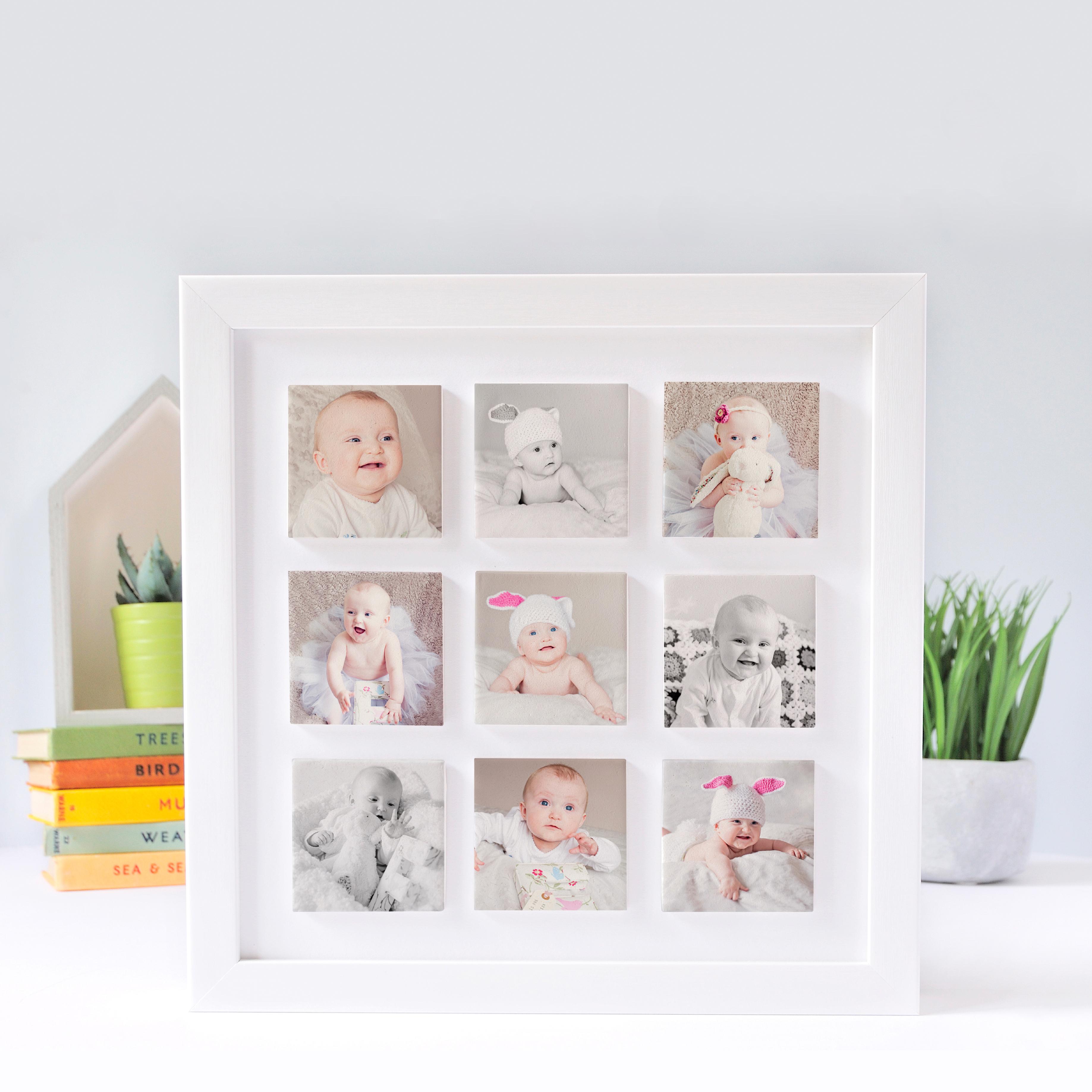 Personalised baby nine clay tile photo frame love unique personal personalised baby nine clay tile photo frame jeuxipadfo Choice Image