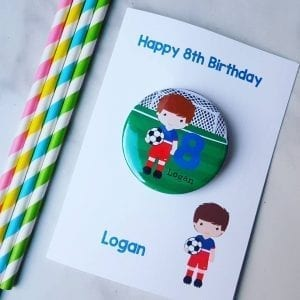 Personalised Sporty Birthday Badge Card
