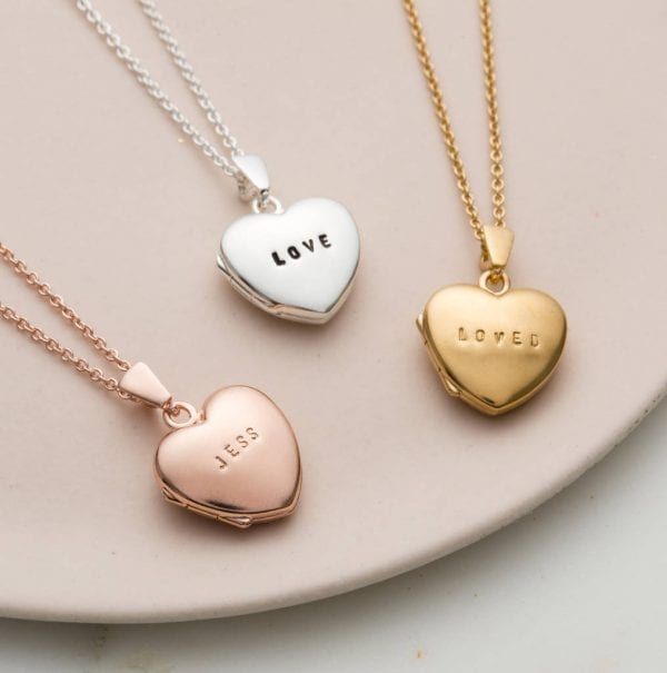 personalised mini heart locket love unique personal