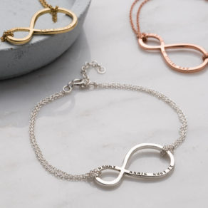 Personalised Mummy And Baby Infinity Bracelet