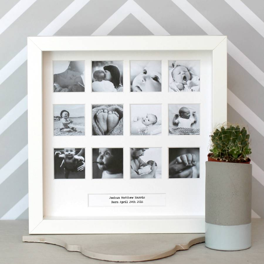 Personalised My First Year Square Frame | Love Unique Personal