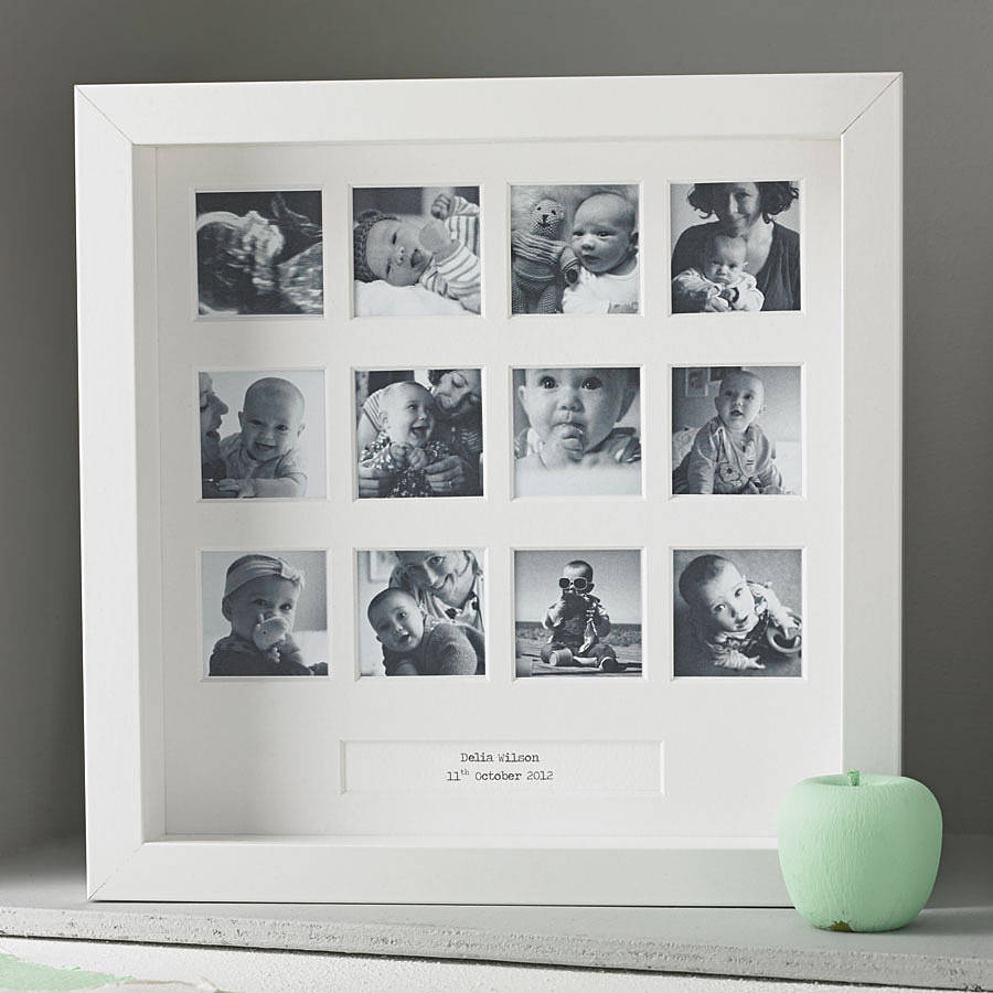 Personalised my first year square frame love unique personal negle Gallery