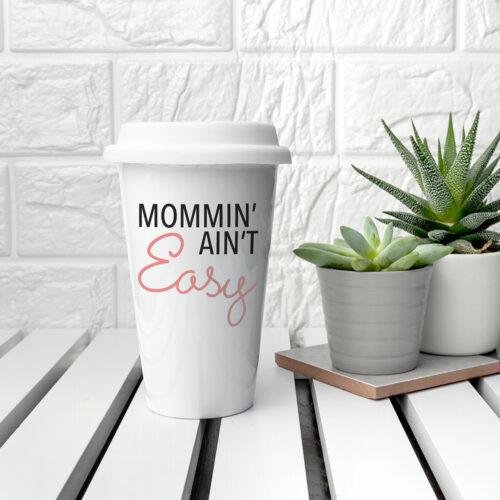 Personalised It Ain't Easy Travel Mug