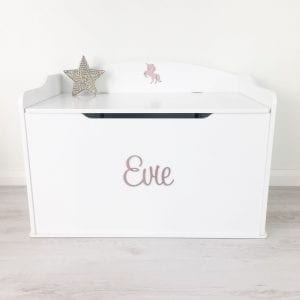 Personalised Extra Large White Toy Box